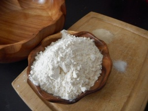 Main ingredients of basic bread recipes include water, flour, salt and yeast.